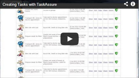 video demo of creating tasks with Task Assure